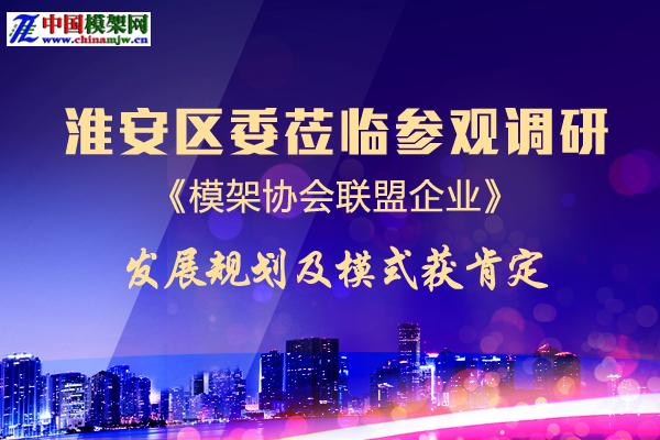 淮安区委莅临参观调研模架协会联盟企业  发展规划及模式获肯定 ()